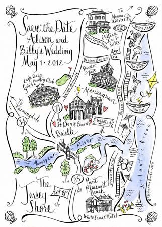 Save the Date map from Stephannie Barba.  <3 her!  She did an illustration for my wedding:)  More of a splurge, but so worth it!