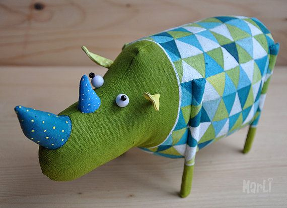 pet rhino by MarLitoys on Etsy
