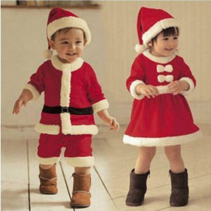 JP-033小売子供クリスマス服セットサンタクロース衣装のため赤ちゃんクリスマスパーティー服ロンパース+帽子2ピースセット赤ちゃん着用