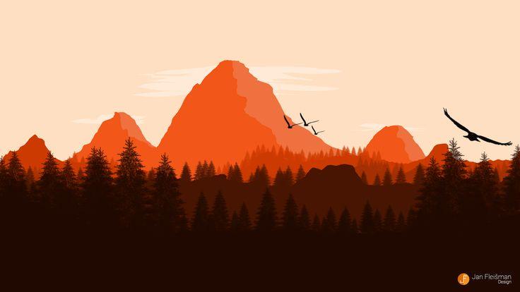 Flat Landscape wallpaper by Edicz on DeviantArt