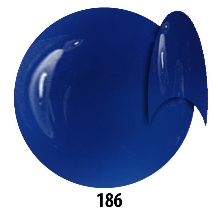 186. NTN Lakier żelowy UV - Violettblau - Niebieski - 6ml