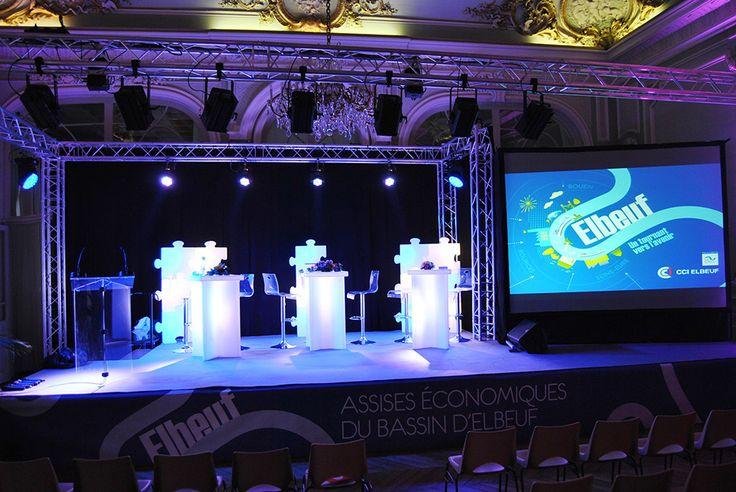 Ecran LED et Vidéo projecteur avec l'agence évènementielle Scorpion Animation Rouen Elbeuf