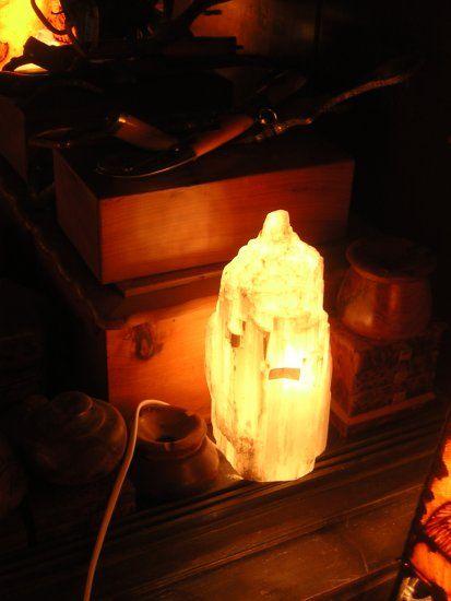 - Lámpara de Selenita. - Decoración Árabe