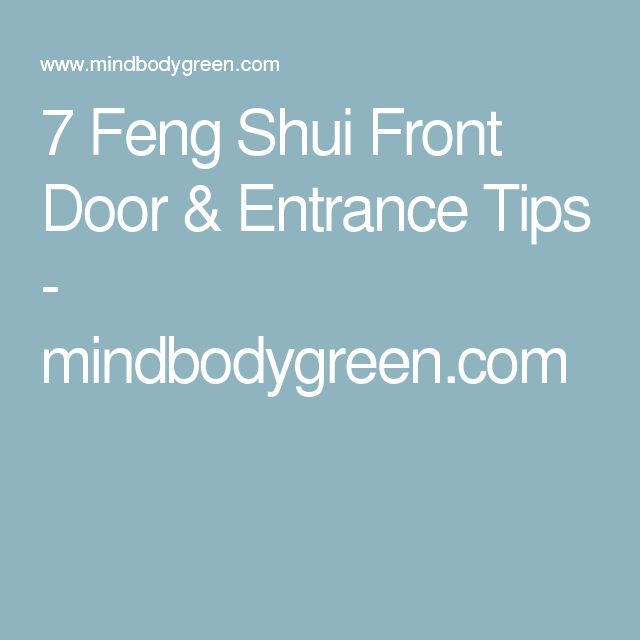 25 best ideas about front entrances on pinterest front for Feng shui back door