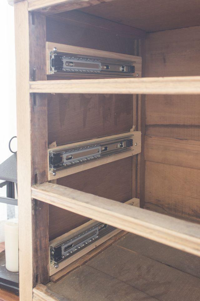 How To Install Drawer Slides On A Vintage Dresser Wood Furniture