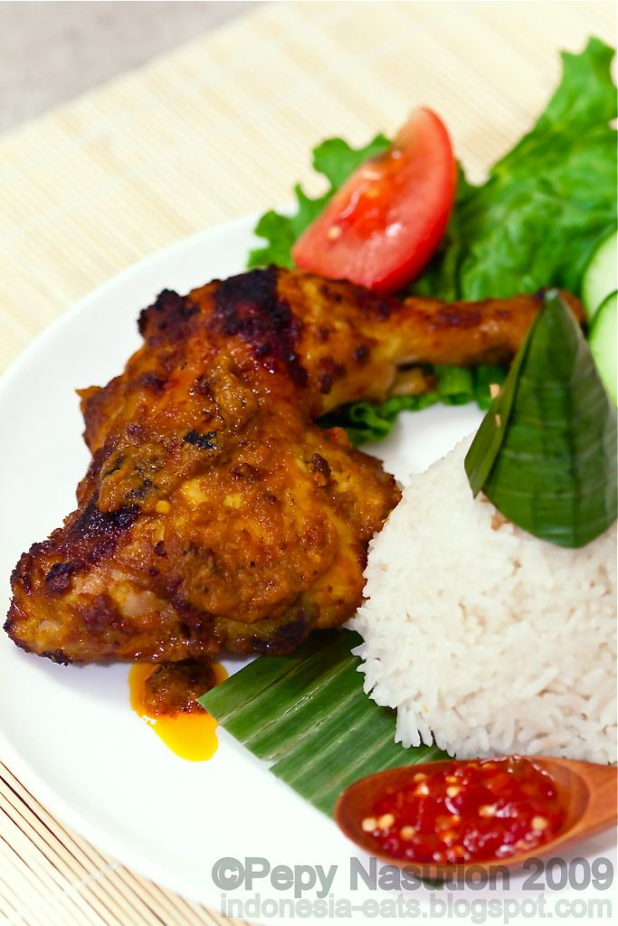 Ayam bakar bumbu rujak (Grilled chicken with Rujak spices)