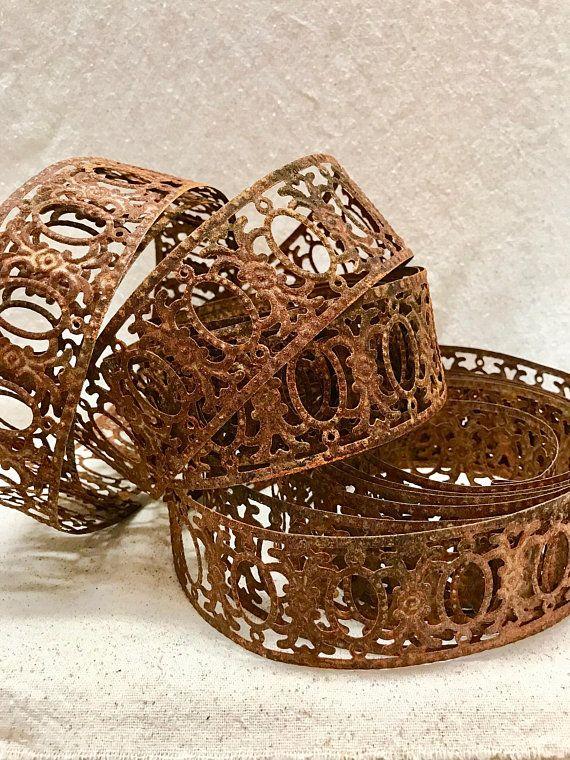 Metal Ribbon Trim Rusty Embellishment Decorative Metal Ribbon