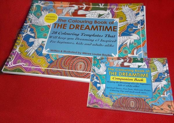 Artworks by Mirree 'Dreamtime Colouring Book' COLOURING BOOK and COMPANION BOOK by Mirree Contemporary Dreamtime Animal Series