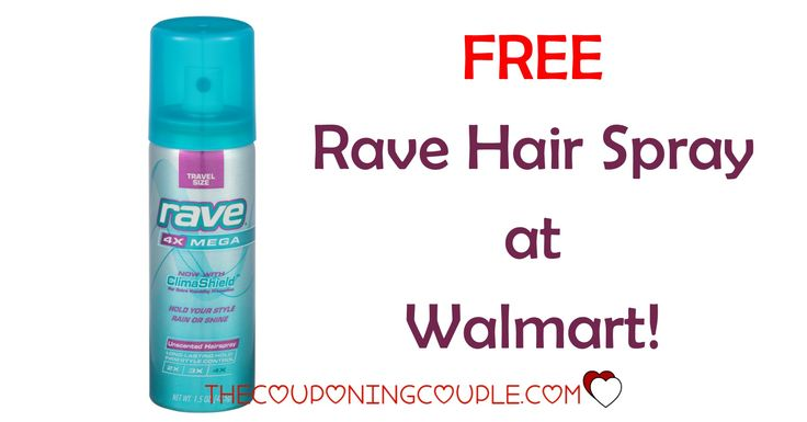 FREE RAVE HAIR SPRAY at Walmart! Get a FREE trial size can with a HOT COUPON!  Click the link below to get all of the details ► http://www.thecouponingcouple.com/rave-hairspray-coupon-walmart-deal-1-47/ #Coupons #Couponing #CouponCommunity  Visit us at http://www.thecouponingcouple.com for more great posts!