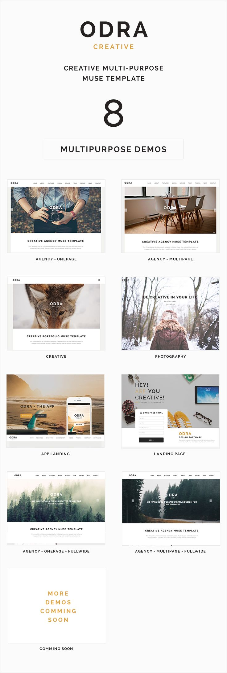 34 best adobe muse templates images on pinterest adobe muse muse templates odra creative multi purpose muse template themeforest pronofoot35fo Images