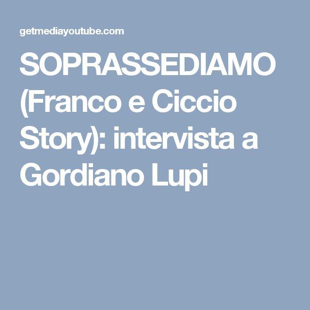 SOPRASSEDIAMO (Franco e Ciccio Story): intervista a Gordiano Lupi