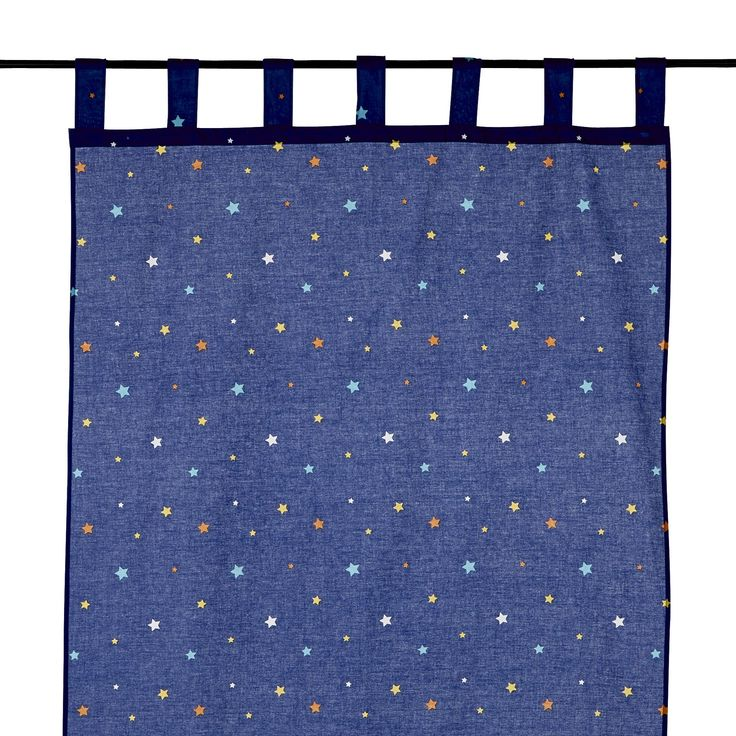 Rideau à pattes 110x250cm phosphorescent pour enfant Bleu - Galaxi - Les rideaux et voilages - Les tapis, rideaux et coussins - Univers des enfants - Décoration d'intérieur - Alinéa