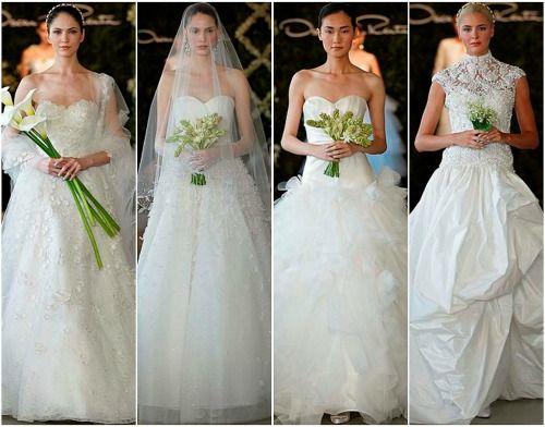 Brautkleider 2013 von Oscar de la Renta. Foto: Dan Lecca