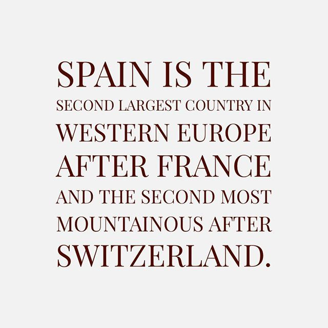 Spain Is The Second Most Mountainous After Switzerland Spain Two By Two Largest Countries