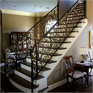 Best 25 indoor stair railing ideas on pinterest indoor for Pre built stairs interior