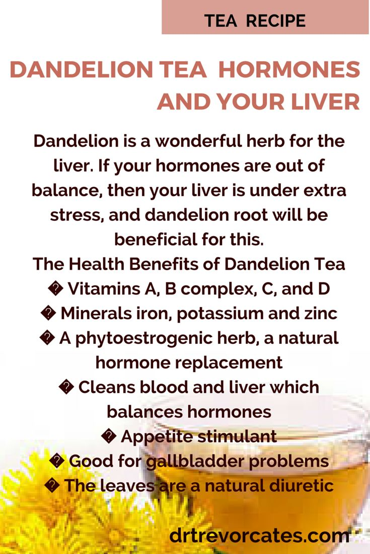 Dandelion Tea for your Hormones and Liver