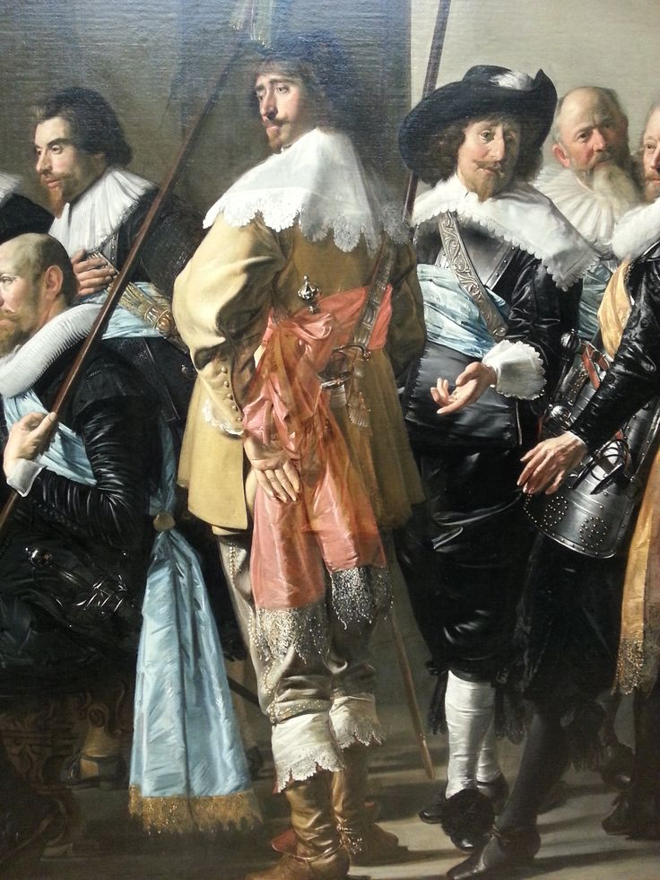 Detail of: Militia Company of District XI under the command of Captain Reyniet Reael, known as 'The Meagre Company', Frans Hals, oil on Canvas, 1637 - Rijksmuseum Amsterdam