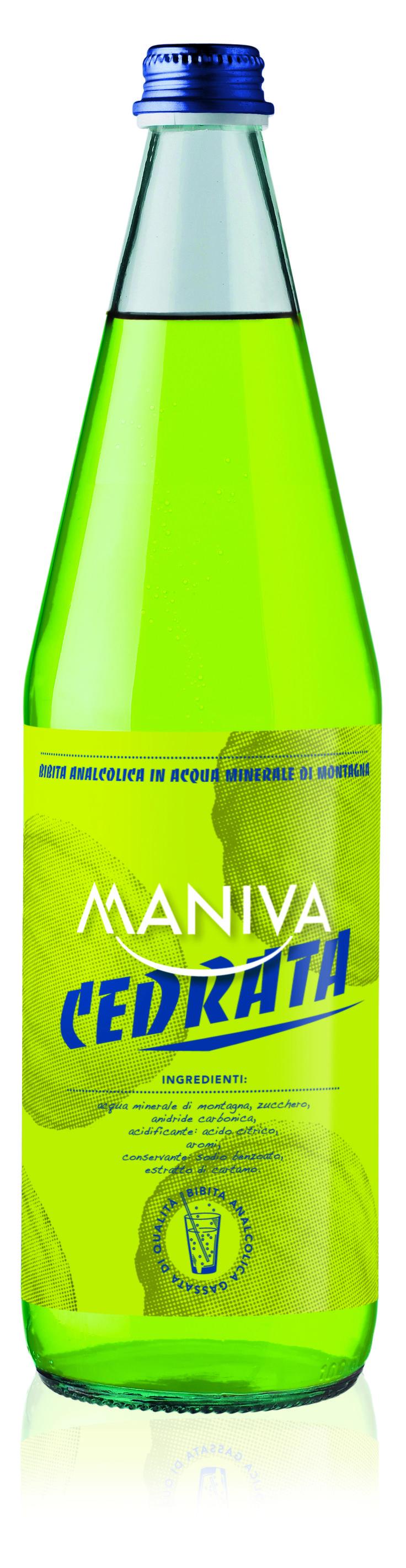 CEDRATA Bibita analcolica frizzante, di alta qualità garantita anche dalla leggera acqua minerale di montagna di cui è composta