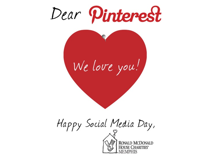 Happy Social Media Day to all of our Pinterest friends! We love you!:  Plectron,  Plectrum, Social Media, Pinterest Friends, Happy Social, Rmhc Memphis