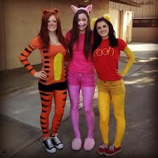winnie the pooh group costume - this is cute, I could totally do pooh this year for really cheap!