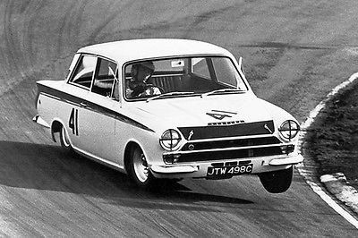 1965 Lotus Ford Cortina Mk1 - Promotional Race Poster