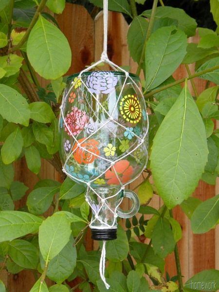 Make a butterfly feeder with @Plaid Crafts and @Martha Stewart #crafts #glasspaint #silkscreen by @carolyn garris {homework}