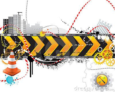 Vector Illustration about Under Construction