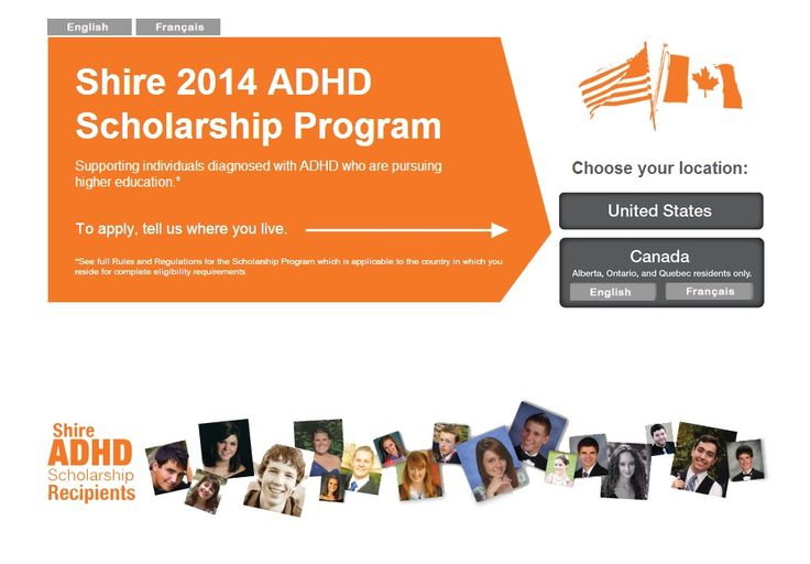 adults scholarships for adhd