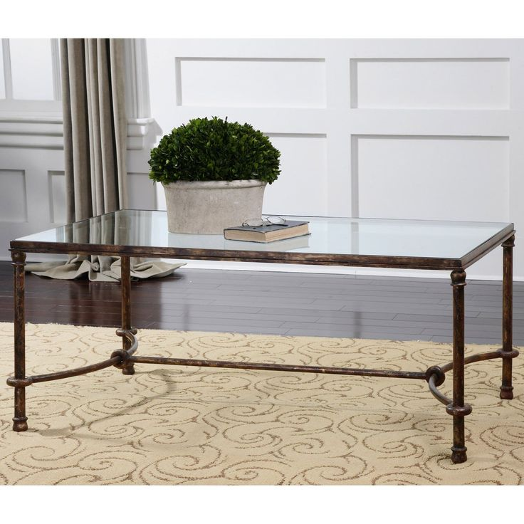 Glass And Iron Coffee Tables