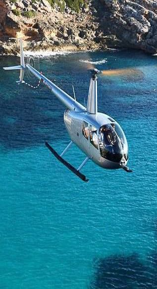 Private Helicopter ~ Majorca via Bibeline Designs