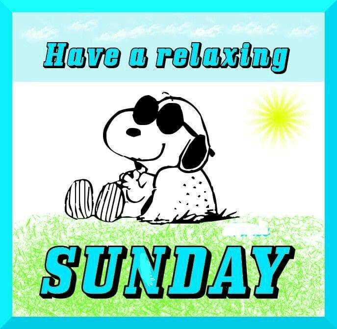 ✔ Have a relaxing Sunday.   --Peanuts Gang/Snoopy
