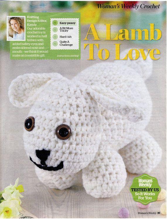 Amigurumi CROCHET Toy LAMB Pattern. A Lamb To Love