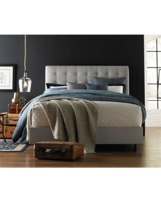Hawthorne Queen Button Bed, Quick Ship $399.00 A modern bed with a timeless elegance. Button tufting across the headboard offers a classic design touch that is beautifully complemented by the soft micro-suede upholstery that adorns this queen bed.
