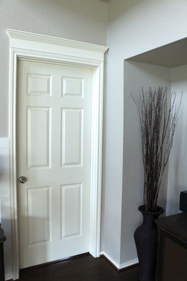Door with Crown Molding