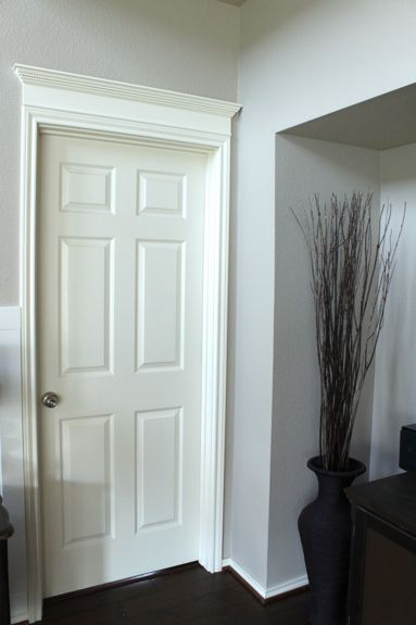 Door with Crown Molding