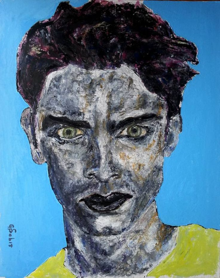 "Saatchi Art Artist George Sabin; Painting, ""Man with yellow shirt"" #art"