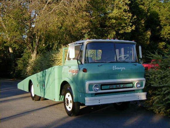 This 1966 GMC Tilt Cab hauler looks to be ready for duty with its vintage green paint and Hodges bed. The slant back looks long enough to haul even the longest oversized classic family sedan. Current bids are a fraction of what has been spent on it. Find it here on eBay in Franklin, Tennessee without reserve.
