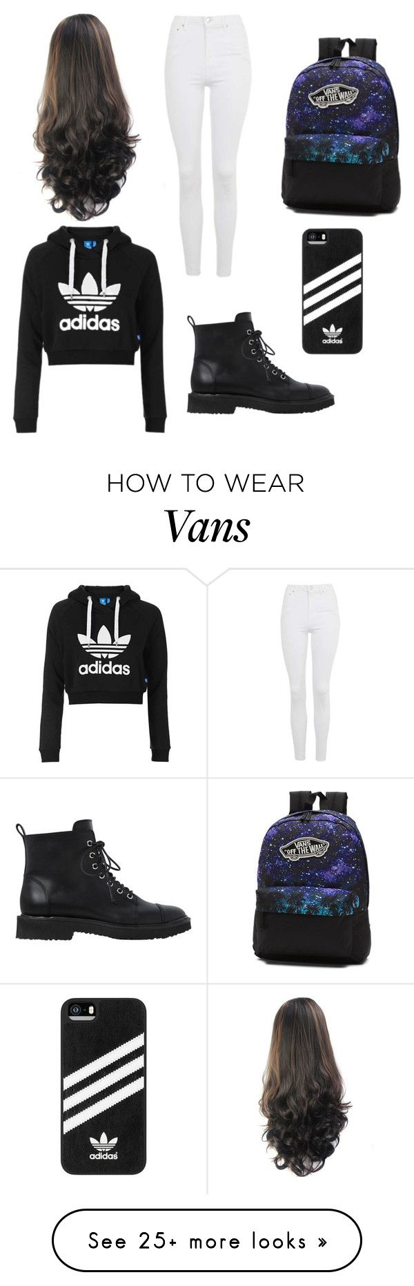 """Untitled #1"" by kaniatrish on Polyvore featuring Topshop, Giuseppe Zanotti, Vans and adidas"