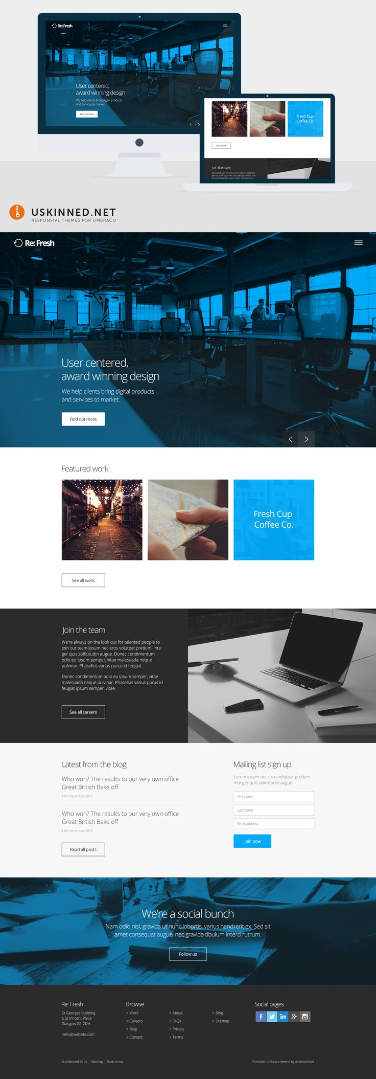 15 best images about responsive umbraco theme designs on pinterest