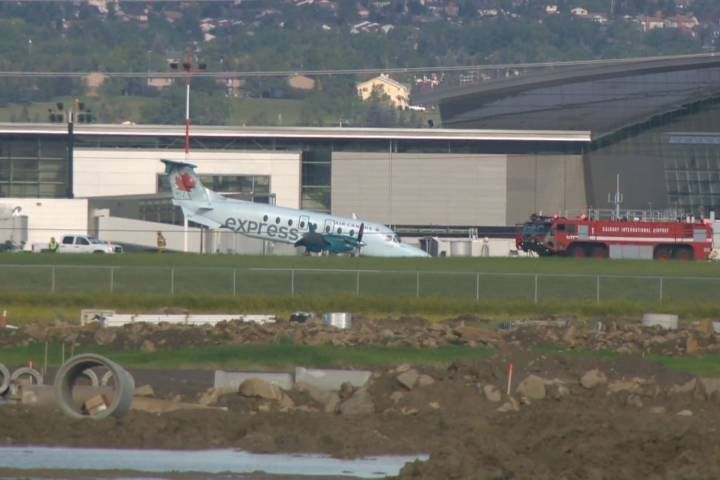 An investigation is underway following a hard landing at the Calgary International Airport on Tuesday.