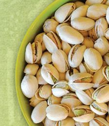 Eat pistachios...they are very good for you!  Antioxidant Powerhouse and High in Fiber!!!