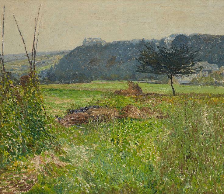 Max Clarenbach, SOMMERLANDSCHAFT BEI MONTABAUR, Auktion 1017 Gemälde und Zeichnungen des 15. - 19. Jh., Lot 58