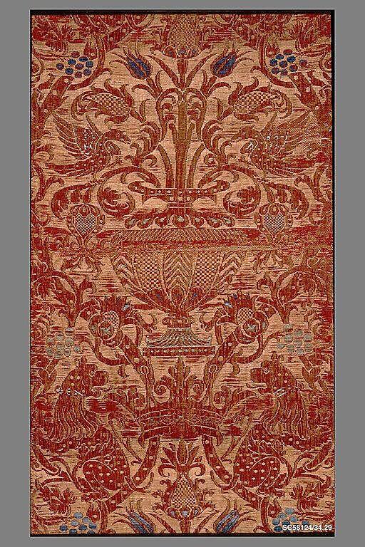 Spanish Panel ~ silk and hemp ~ 16th C