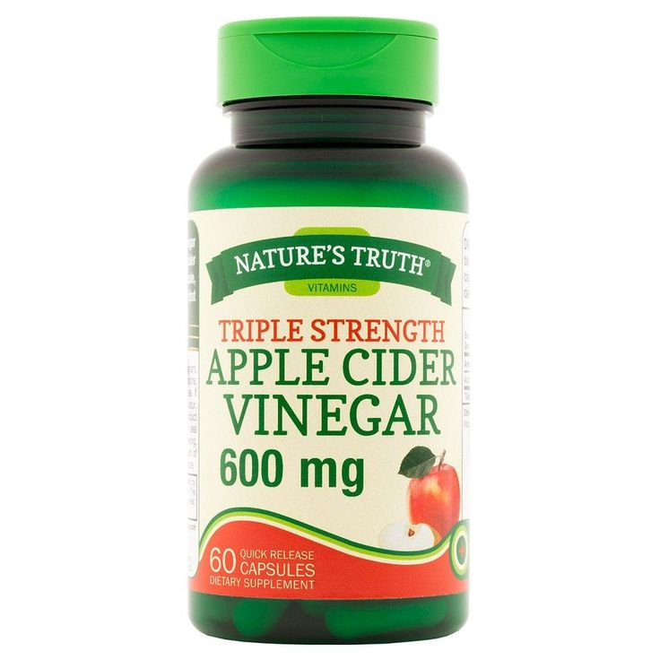 Nature's Truth Triple Strength Apple Cider Vinegar 600mg Quick Release Capsules - 60 Count