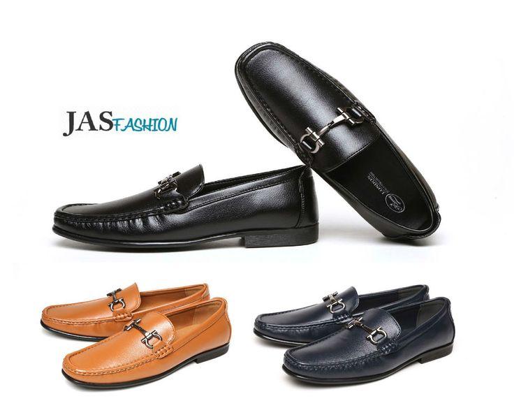 Mens Loafers Casual Slip On Designer Driving Shoes Smart Formal Moccasin Size UK