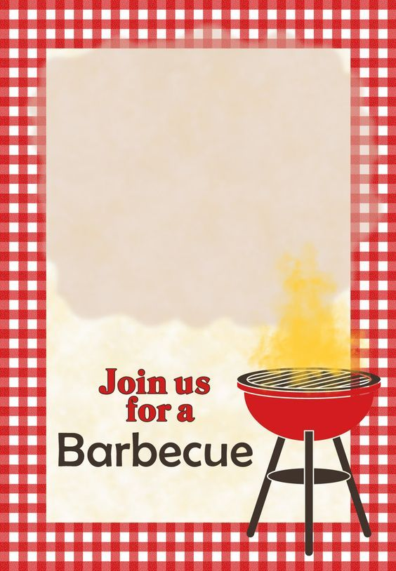 A Barbecue Free Printable Party Invitation Template