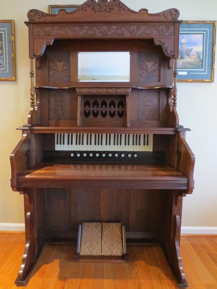 c. 1909 W.W. Putnam Company walnut pump organ desk that I converted into a beautiful writing desk.