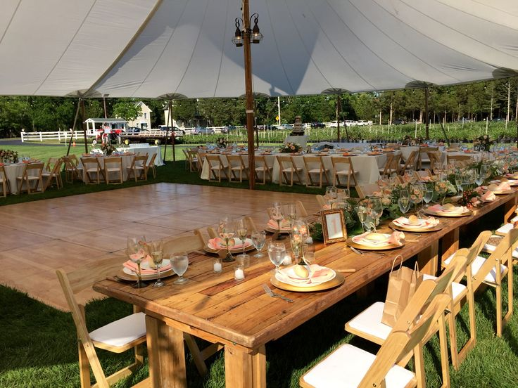 Sail Cloth Tents for Farm Weddings at DiMeo Blueberry Farm in Hammonton where the outdoor-only farm weddings are simply gorgeous