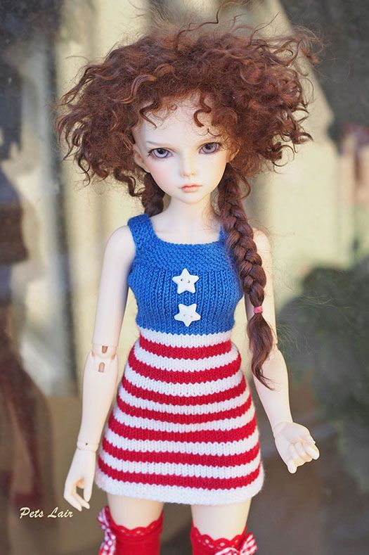 New works update. For Memorial Day, 4th of july outfit   #4thofjulyoutfit   #iplehouse #kidi  #MINIFEE #doll #photography #bjd  #Patriotic #dress doll,  dress #Memorial #Day,  #4th of j#uly #outfit , 4th of july #Doll
