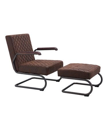 This Father Vintage Brown Lounge Chair is perfect! #zulilyfinds